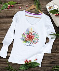 дамска тениска с дълъг ръкав merry christmas 1