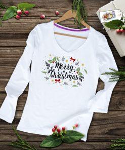 дамска тениска с дълъг ръкав merry christmas 3