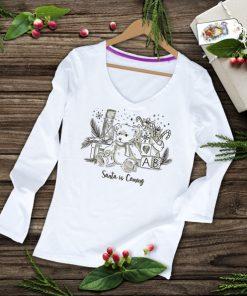дамска тениска с дълъг ръкав santa is coming
