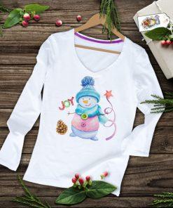 дамска тениска с дълъг ръкав и коледна щампа joy