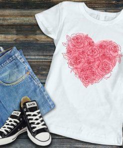 Дамска тениска heart of roses
