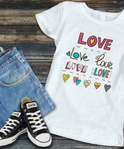 Дамска тениска love love