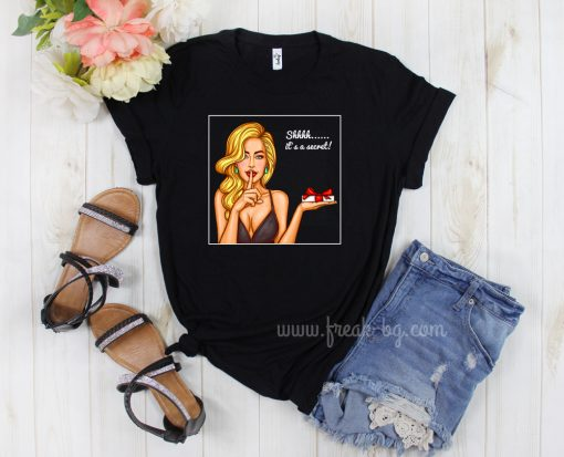 дамска тениска shh its a secret