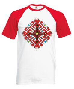 двуцветна мъжка тениска с щампа шевица пазители