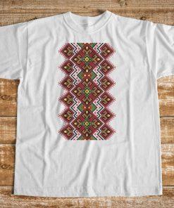 мъжка тениска с печат шевица бяло