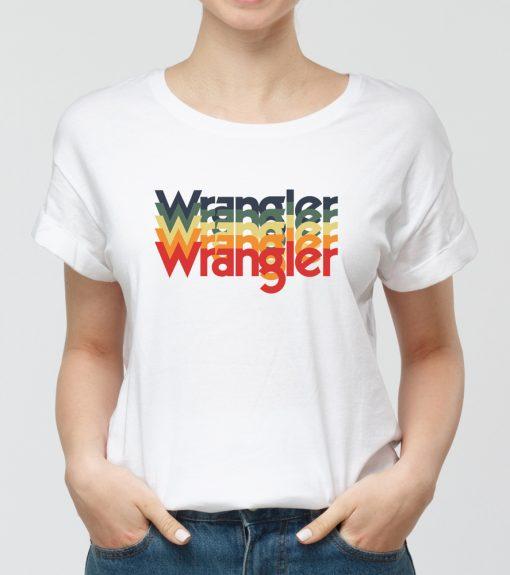 Дамска бяла тениска с щампа wrg