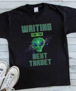 Мъжка черна тениска с щампа alien