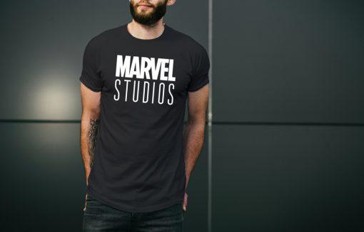мъжка тениска с надпис marvel studios 1