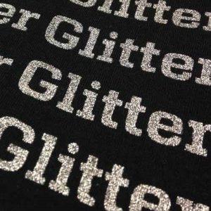 тениски с надписи от флекс фолио с глитерен ефект