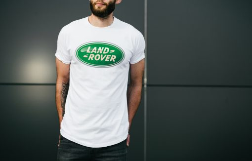 мъжка тениска land rover 1 white
