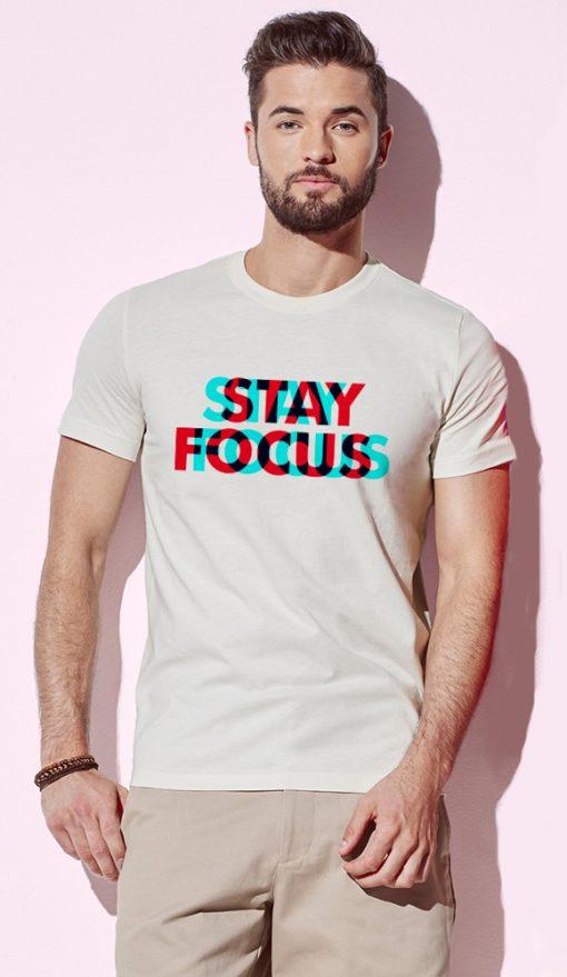 мъжка тениска stay focus