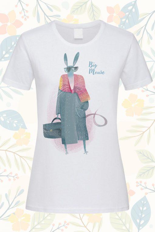 Дамска тениска с щампа big mouse