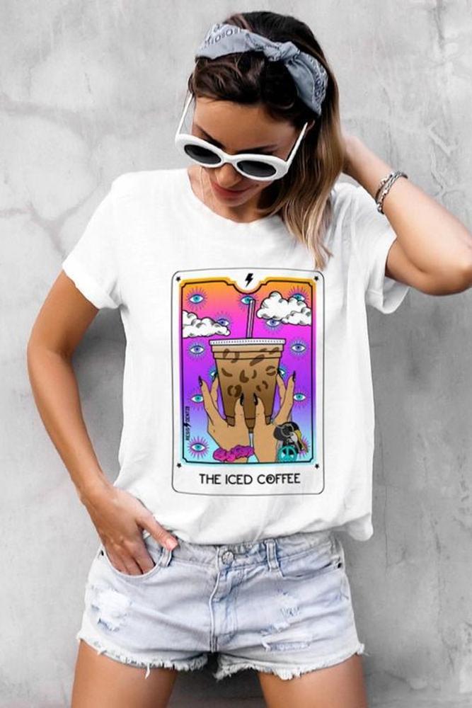 дамска тениска с щампа таро 1