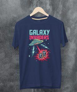 мъжка тениска galaxy invaders navy