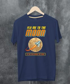 мъжка тенискa fly me to the moon